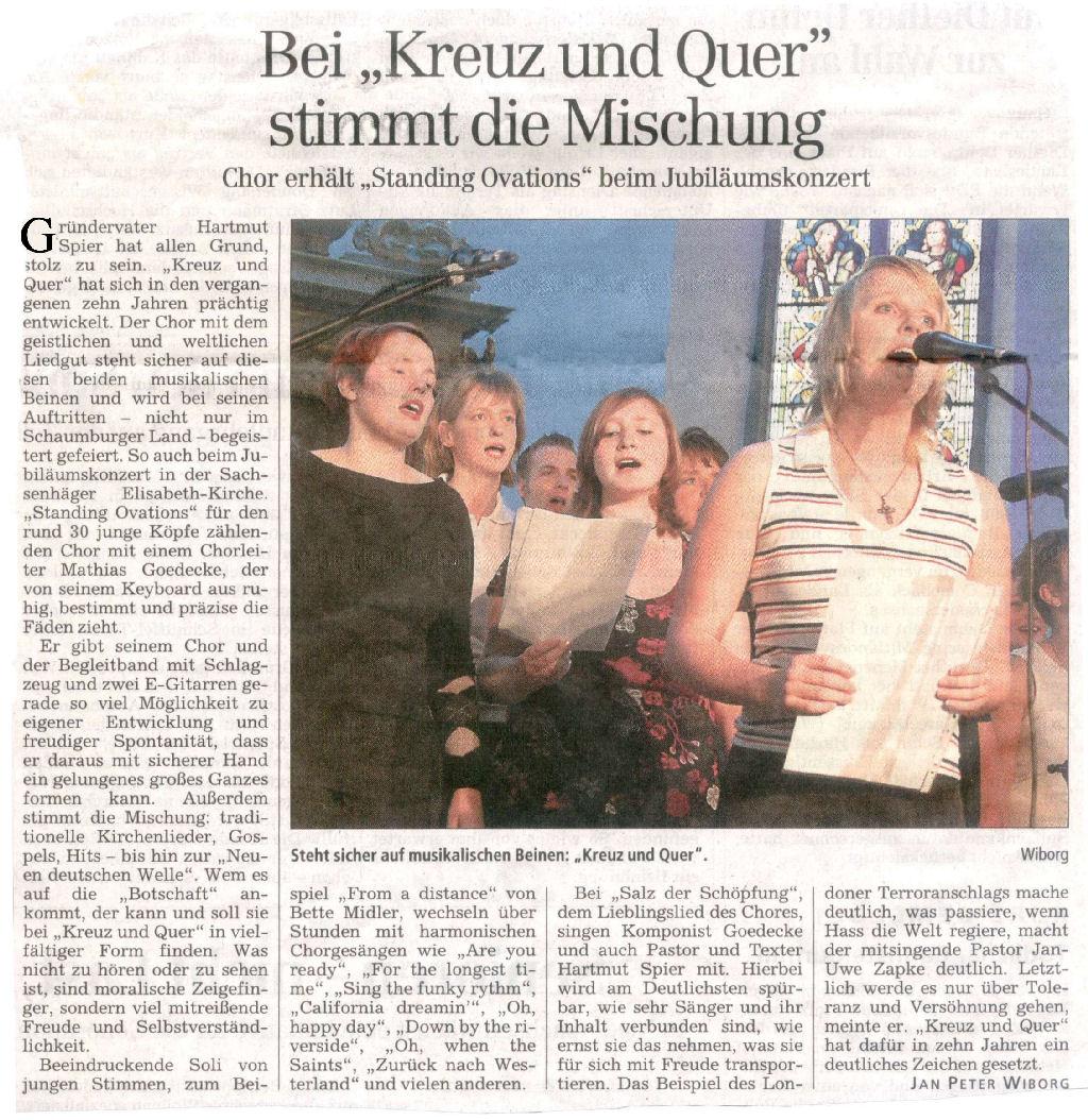 Jubiläumskonzert 10 Jahre kreuz & quer